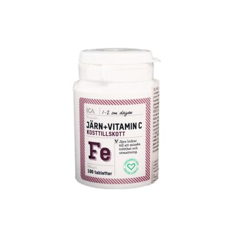 Maisto pap. geležis + vitamin.C ICA,100 tabl.