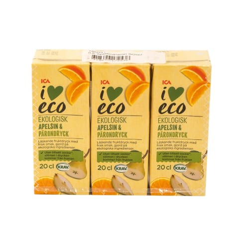Sulas dzēr. apelsīnu I Love Eco 3x200ml