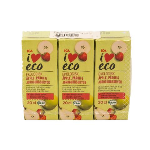 Jook õuna, pirni, I Love Eco 3x200ml