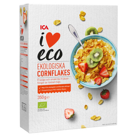 Ekol. kukurūzų dribsniai I LOVE ECO, 350g