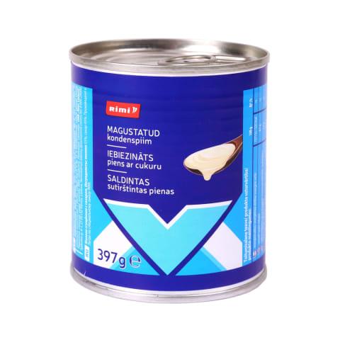 Saldintas sutirštintas pienas RIMI, 8% rieb.