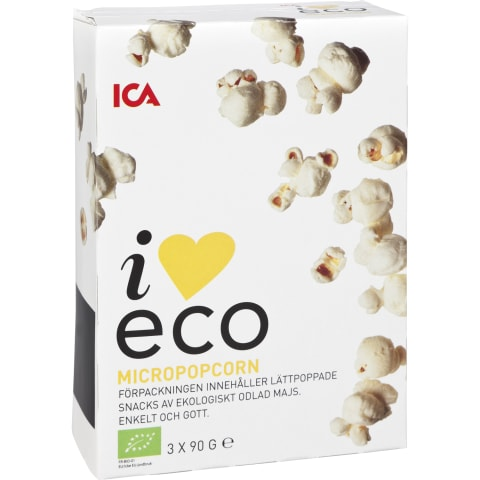 Popkorns I Love Eco sālīts 3x90g