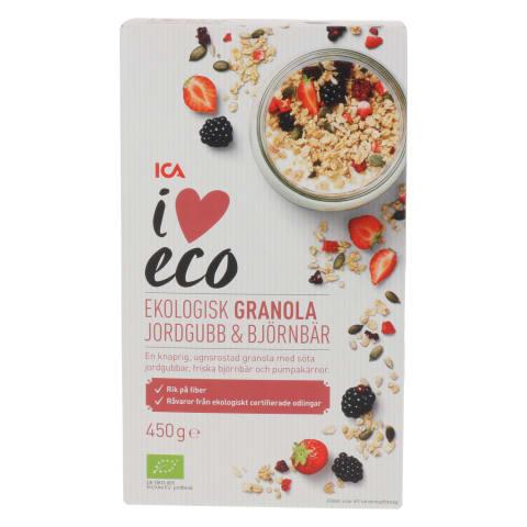 Granola I Love Eco maasik.,murakat. 450g