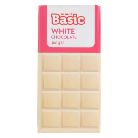 Valge šokolaad Rimi Basic 100g