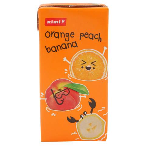 Mahlajook Rimi apelsini,banaani,virsiku 200ml