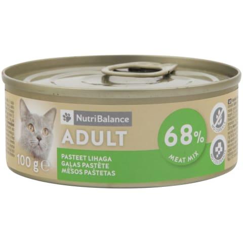 Kaķu barība Nutribalance gaļas 100g