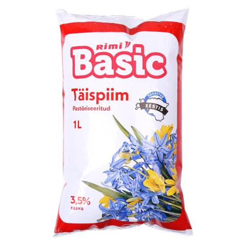 Täispiim Rimi Basic kile 3,5% 1l