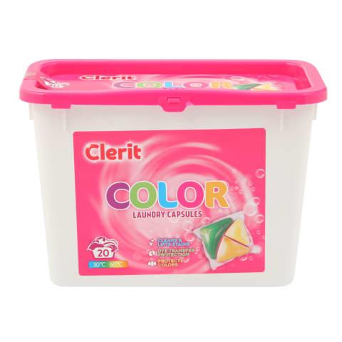 Veļas mazgāšanas kapsulas Clerit Color 20gab.