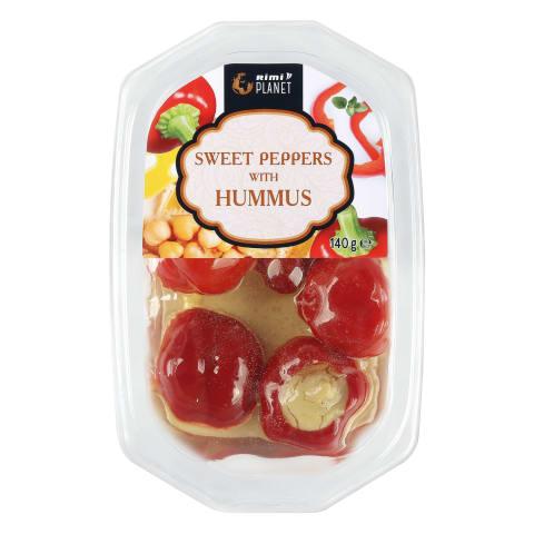 Vyšninės paprikos su humusu RIMI, 140g