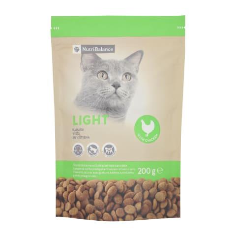 Kaķu barība Nutribalance light weight 200g