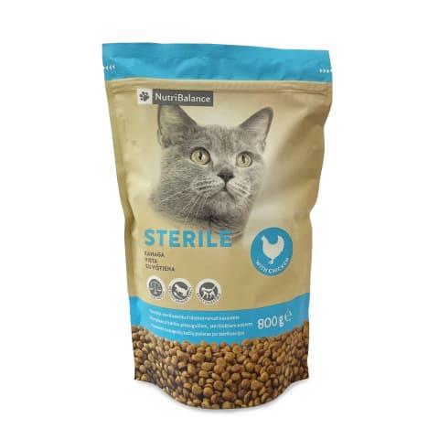 Kaķu barība Nutribalance Sterilized 0,8kg