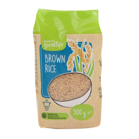 Brūnie rīsi Rimi GreatLife 500g