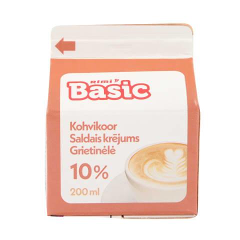 Saldais krējums Rimi Basic 10%, 200ml