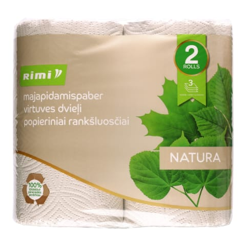 Majapidamispaber Rimi Natura 3 kih., 2 rulli