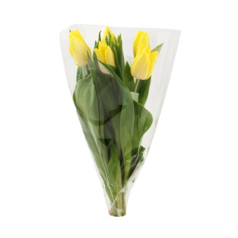 Tulpju pušķis 5 ziedi dažādās krāsās
