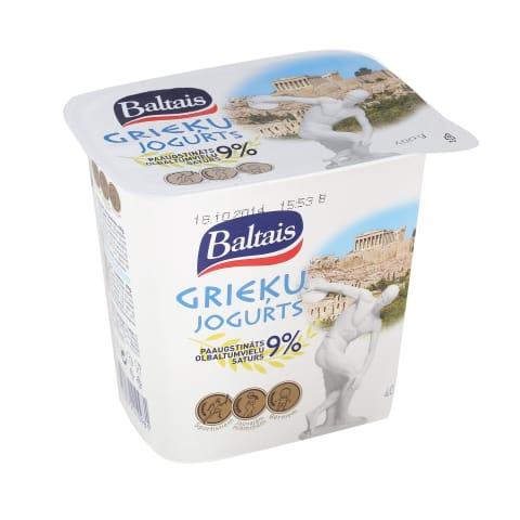 Grieķu jogurts Baltais bez piedevām 400g