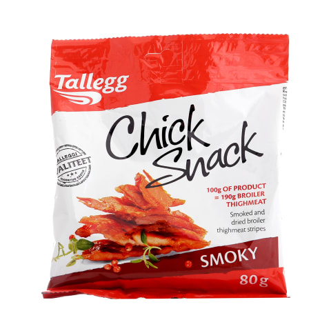 Kanasnäkk Smokey Chick Snack Tallegg 80g