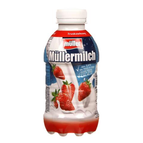Dzēriens Mullermilch zemeņu 1,4% 400g