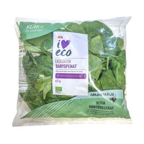 Ekologiški špinatai BABY I LOVE ECO, 65g