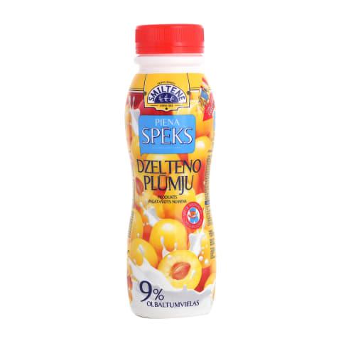 Piena dzēriens Piena Spēks ar plūmēm 230g