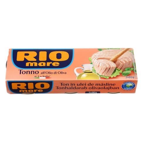 Tuno pjausnys alyv.aliej., RIO MARE, 3 X 80g