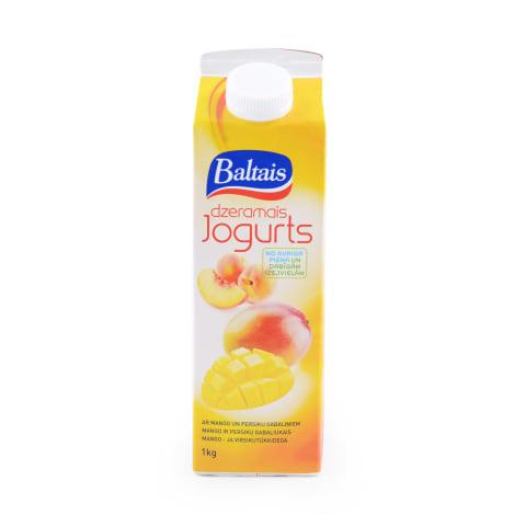 Dzer. jogurts Baltais ar persiku un mango 1kg