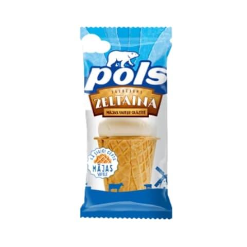 Saldējums Pols vaniļas vafeļu glāzē 120ml/70g