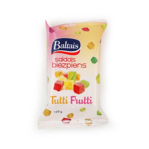 Saldais biezpiens Baltais Tutti Frutti 100g