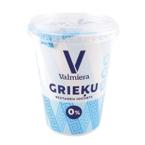 Grieķu jogurts Valmiera dabīgs 0% 370g