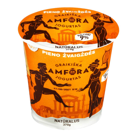 Graikiškas jogurtas, natūralus, 3,9 %, 370 g