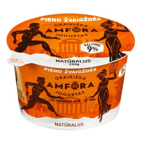 Graikiškas jogurtas, natūralus, 3,9 %, 200 g