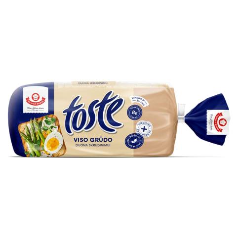 Viso grūdo skrudinimo duona TOSTE, 500g