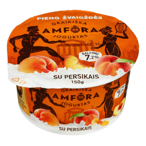 Graikiškas jogurtas su persikais, 3,1%, 150g