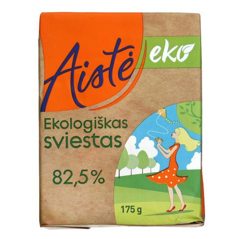 Ekologiškas sviestas AISTĖ, 82,5% rieb., 175g