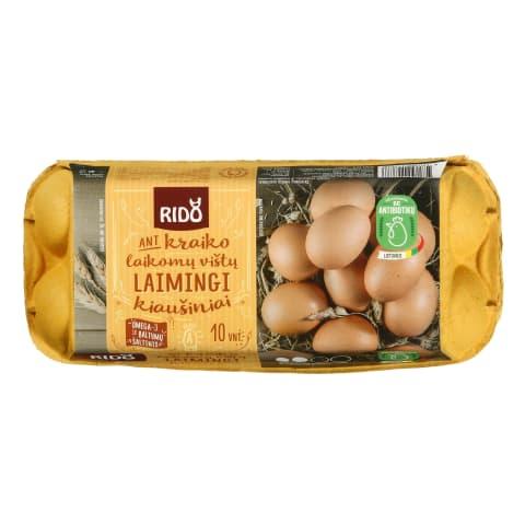 LAIMINGI kiaušiniai RIDO, 10 vnt., 530g