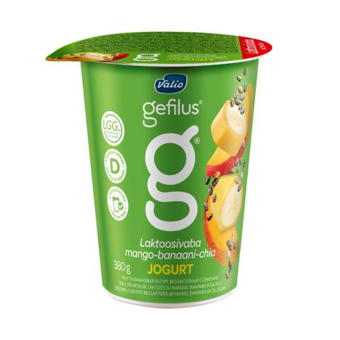 Jogurts Gefilus mango banānu bez laktoz. 380g
