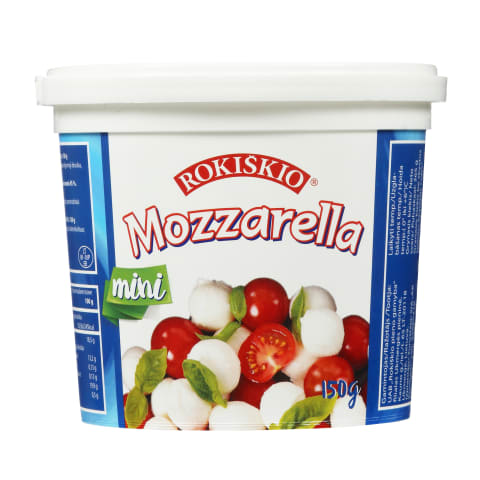 Sūris MOZZARELLA MINI, 45% rieb.s.m., 150g