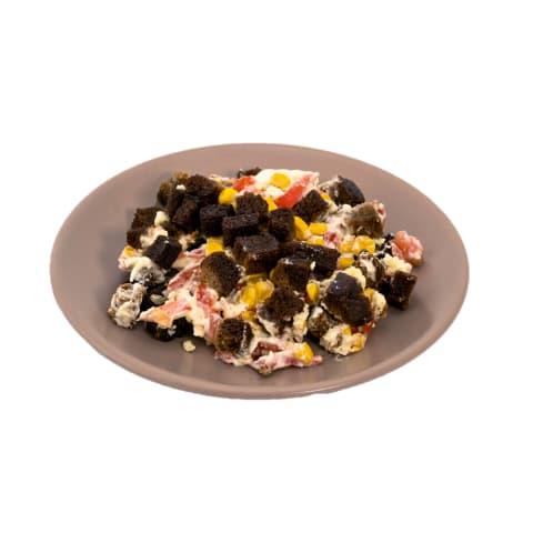 Salāti ar rudzu maizes grauzdiņiem kg