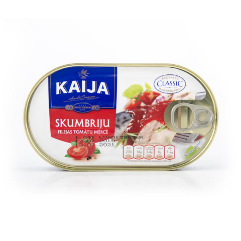 Skumbrijas filejas tomātu mērcē 170g