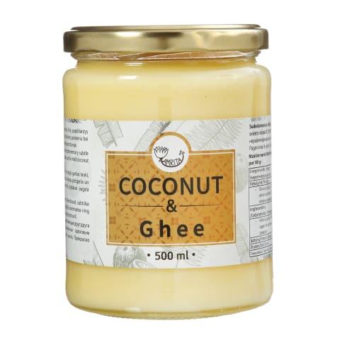 Kokosų aliejus su GHI sviestu AMRITA, 500ml