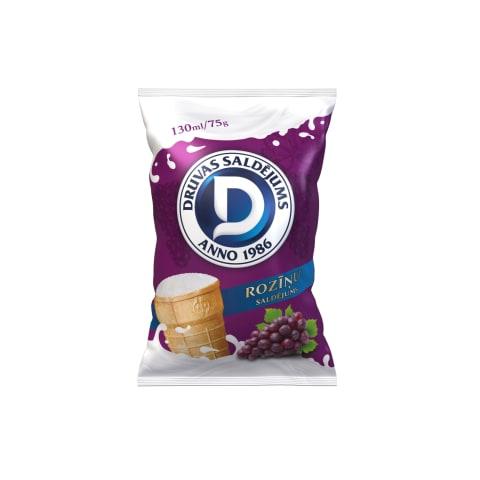 Saldējums Druvas roziņu 130ml/75g