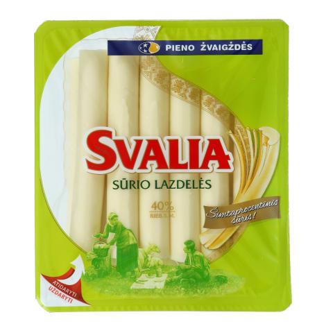 Sūrio lazdelės SVALIA 40% RSM,po 13 vnt.,260g