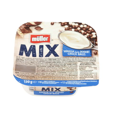 Jogurts Muller mix ar šokol. bumb. 4,9% 130g