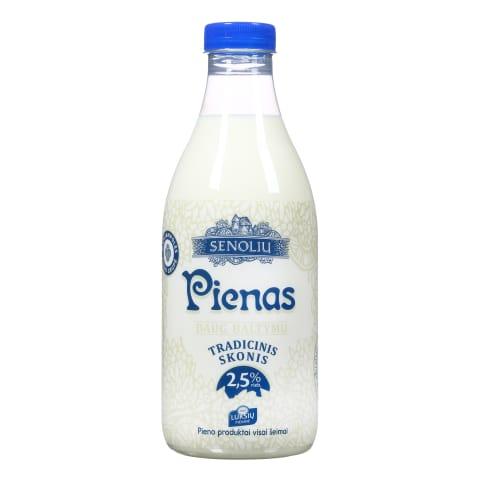 SENOLIŲ pienas, 2,5% rieb., 1l