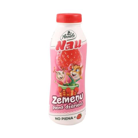 Piena dzēriens Annele Ņau zemeņu 2,3% 450ml
