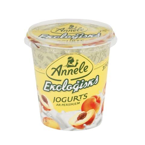Jogurts Annele ar persik.EKO 3,1% 370g