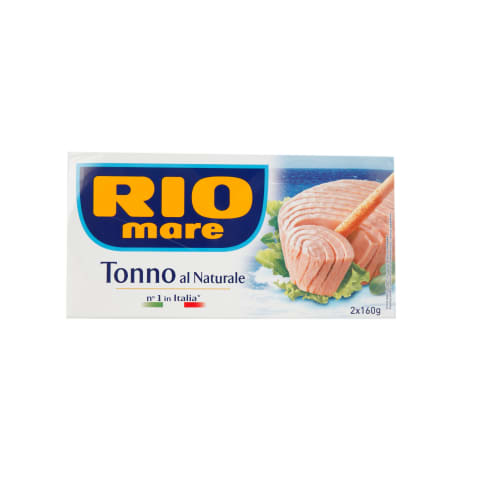 Tuncis Rio Mare savā sulā 2x160g/108g