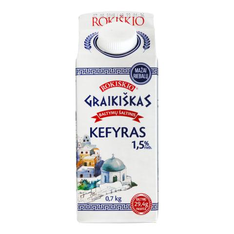 Kefyras ROKIŠKIO GRAIKIŠKAS, 1,5 %, 0,7 kg