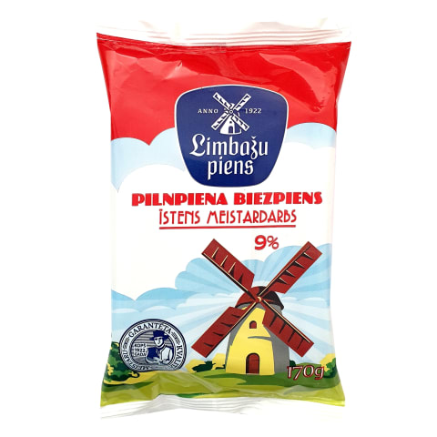 Biezpiens Limbažu piens 9% 170g