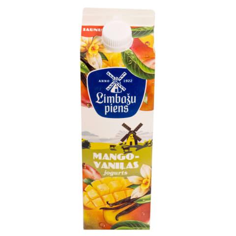 Jogurts LIMBAŽU PIENS mango-vaniļu 950g